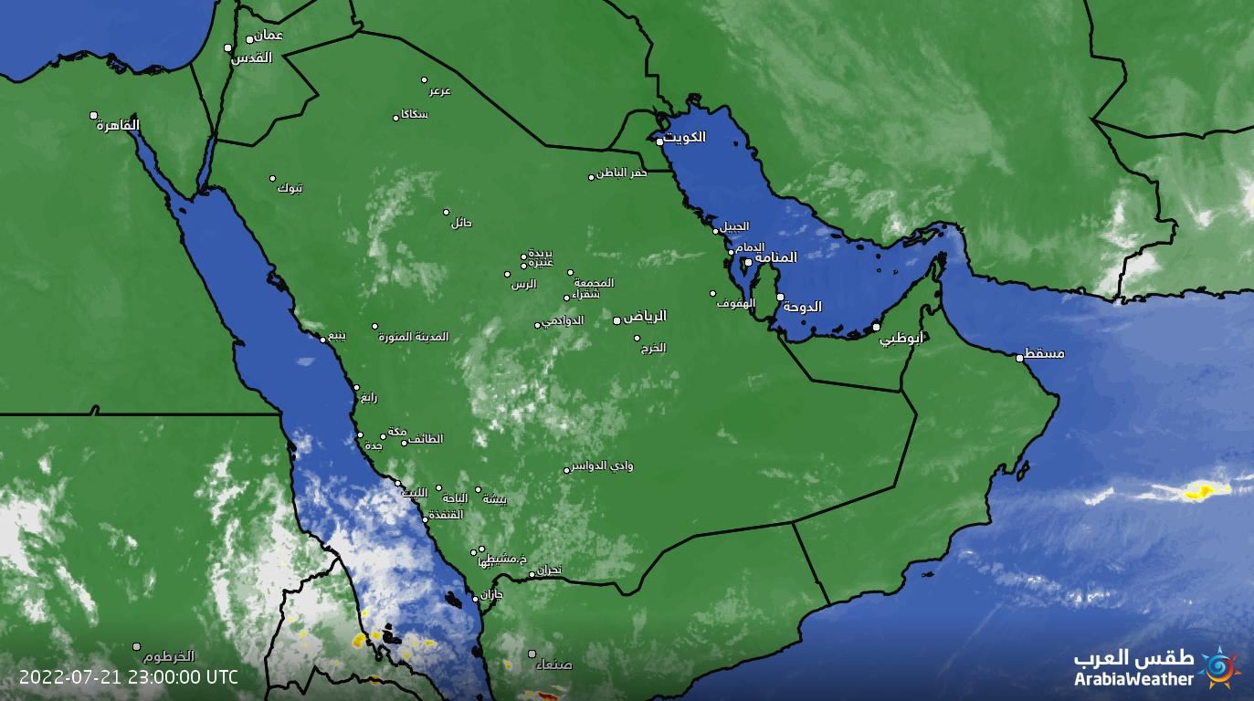 تصویر ماهواره ای خاورمیانه-با قابلیت نمایش رعدوبرق